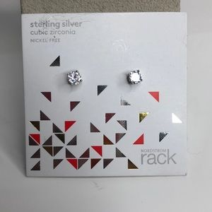 Sterling Silver Studs CZ